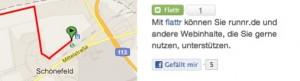 """""""Gefällt mir""""-Button für öffentliche Routen"""