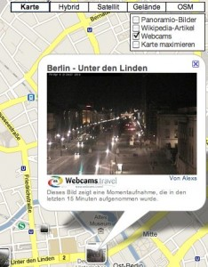 Webcams einblenden